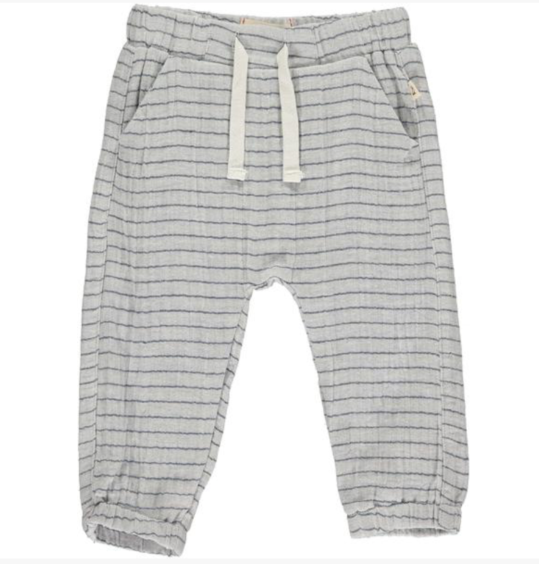Blue Stripe Lightweight gauze Pants