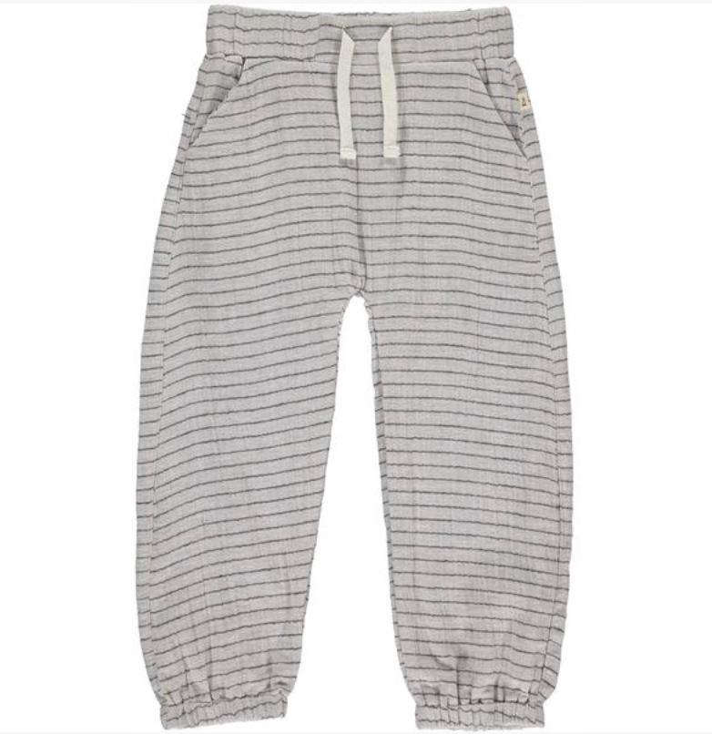 Grey Stripe Lightweight gauze Pants