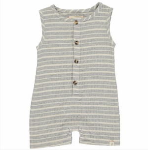 Grey stripe woven playsuit