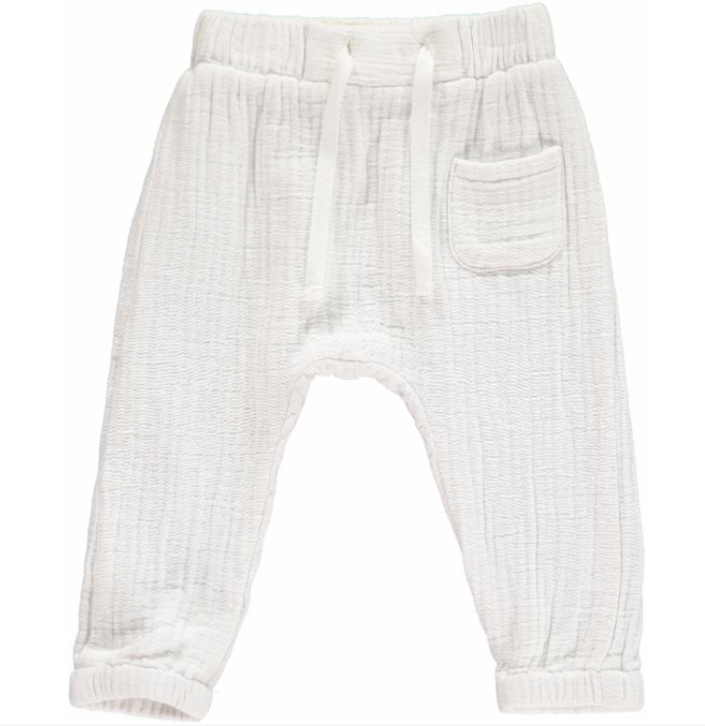 White Lightweight gauze Pants