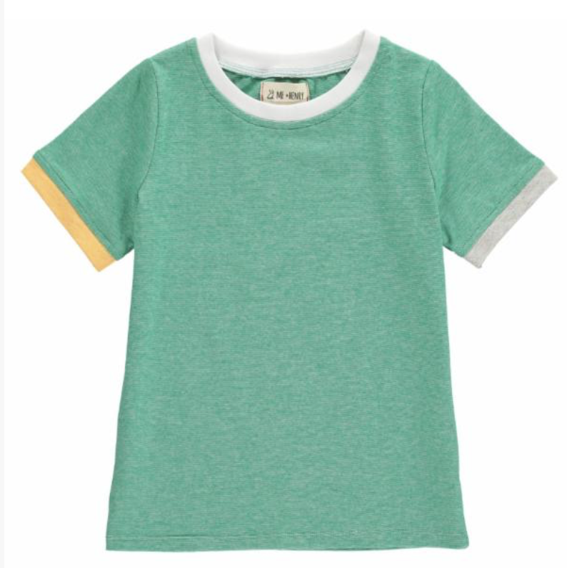 Green Micro Stripe Tee