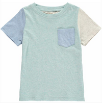 Green Colour Block Tee