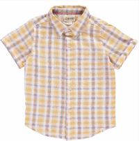Yellow Plaid Woven Shirt