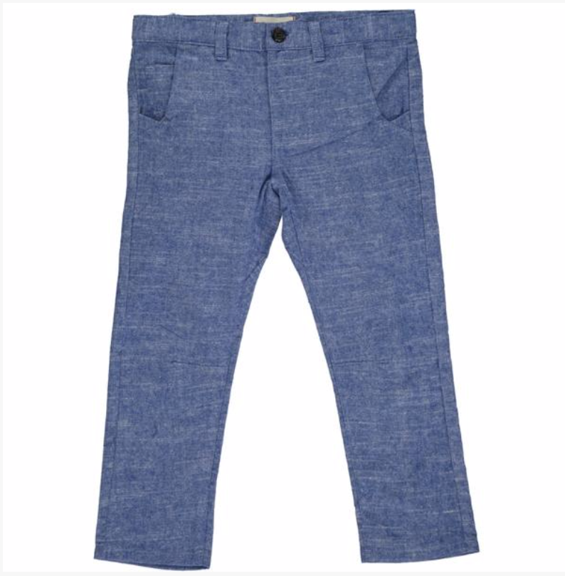 Blue soft cotton pants