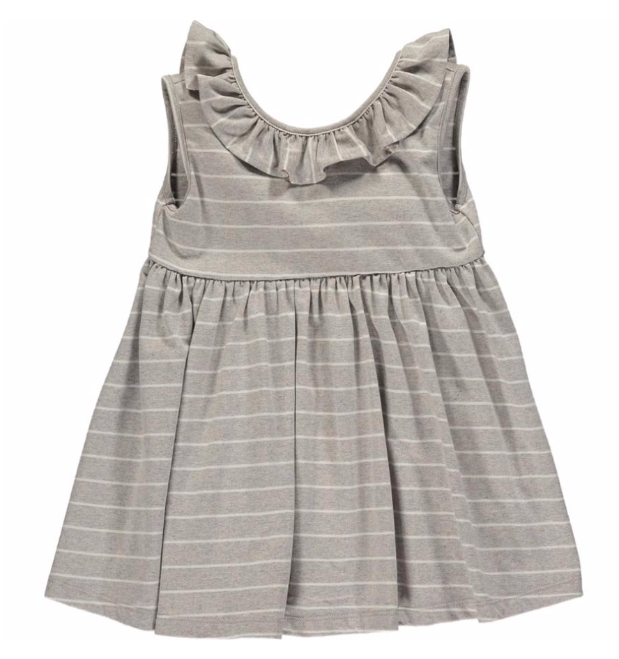 Grey/multi stripe jersey romper