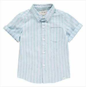 Blue striped Linen Shirt