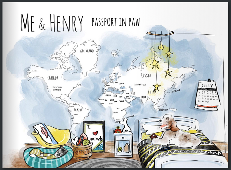 Me & Henry 'Passport in Paw' book