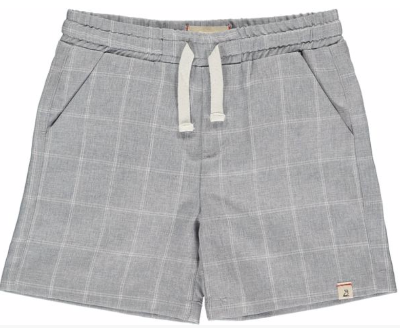 Grey grid swim shorts
