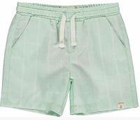 Green grid swim shorts