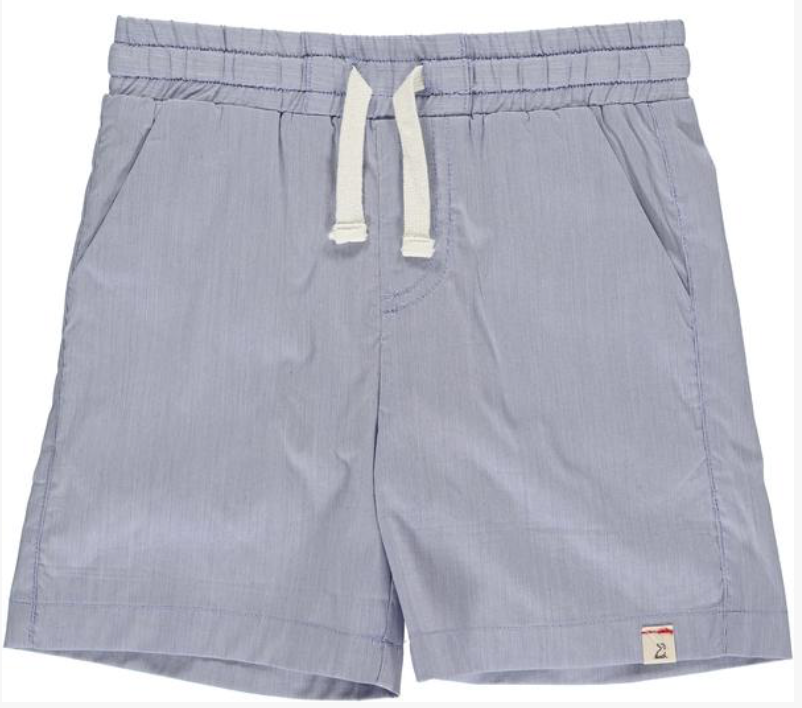 Blue micro stripe swim shorts
