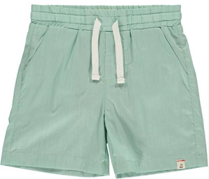 Green micro stripe swim shorts