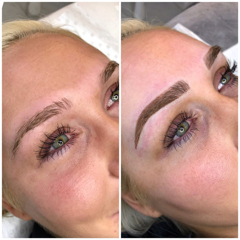 Tham Vo Studio signature style of microblading and shading for this gorgeous blonde client of ours