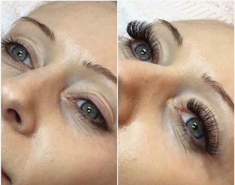 Mega lash extensions mapped to enhanace your eyes, only at Tham Vo Studio