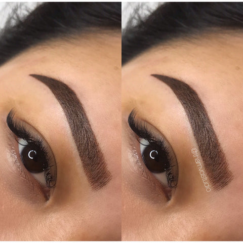 We love a great BOLD brows! This is a combination of microblading/brow feathering and shading tattoo at Tham VO Studio Melbourne