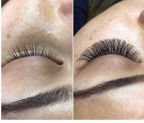 That dark lash lines, created with lash extensions at Tham Vo Studio Melbourne