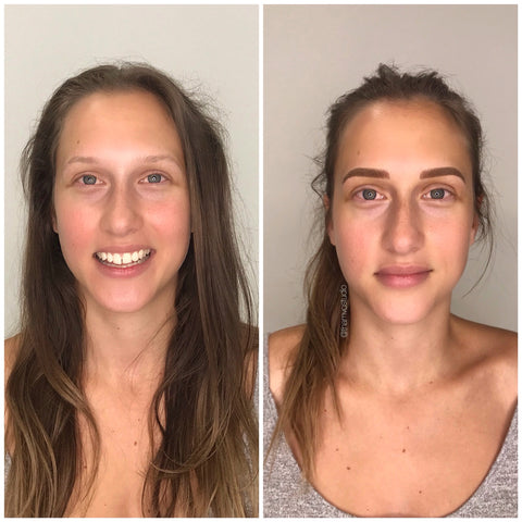 How good does her brows look? This is a combination of microblading and shading of the tattoo done at Tham Vo Studio Melbourne.