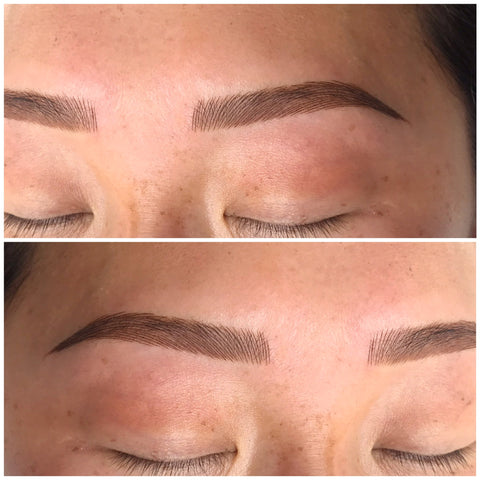 Blade & Shade is a combination of microblading and shading tattoo to give it a natural, yet defined look seen at Tham Vo Studio Melbourne
