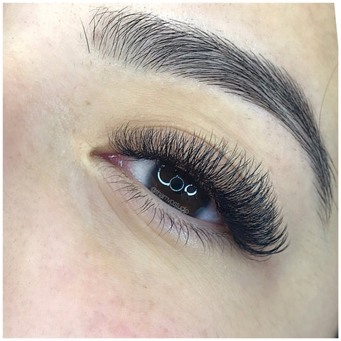Damage free Mega Volume lash extensions at Tham Vo Studio Melbourne