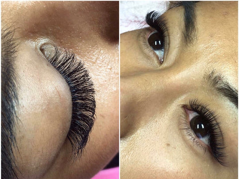 Russian volume lash extensions at Tham Vo Studio