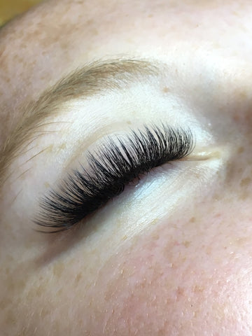 Girl with volume lashes at Tham Vo Studio Melbourne