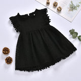 Fashionable Solid Color Fly Sleeve Mesh Hollow Out Dress