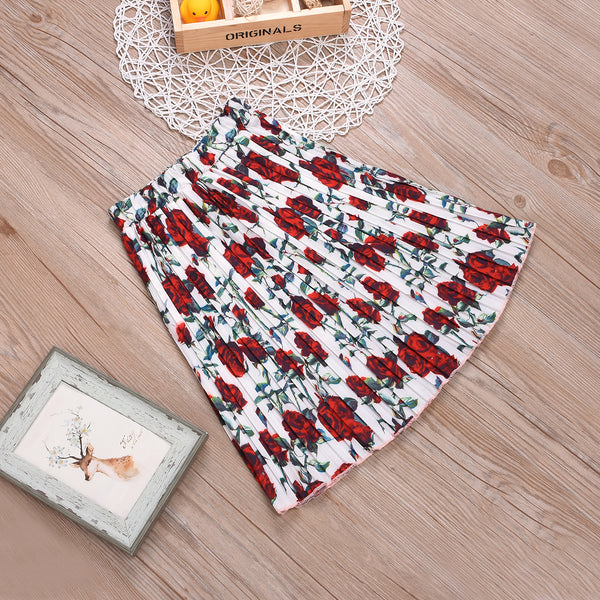 Fashionable Half Skirt Girl Pleated Skirt