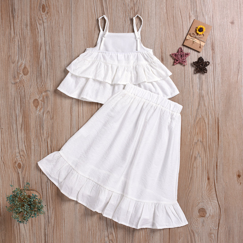 Fashionable Girls Suspender Solid Color Fishtail Dress