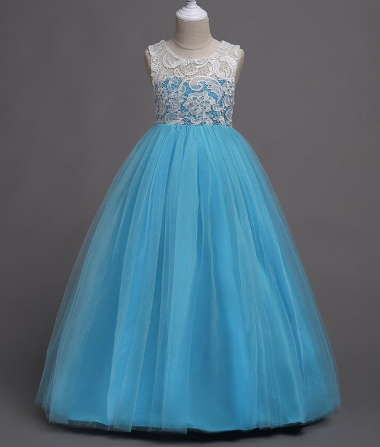 Beautiful Girl Prom Lace Tulle Evening Dress