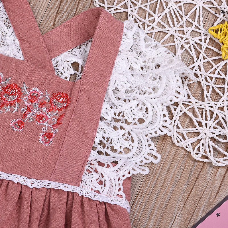 Toddler Girl Embroidered Lace Dress