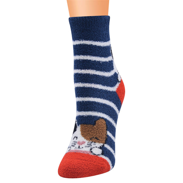 Women 10-Pairs Cat Striped Color Block Socks Sets Accessories Wholesale