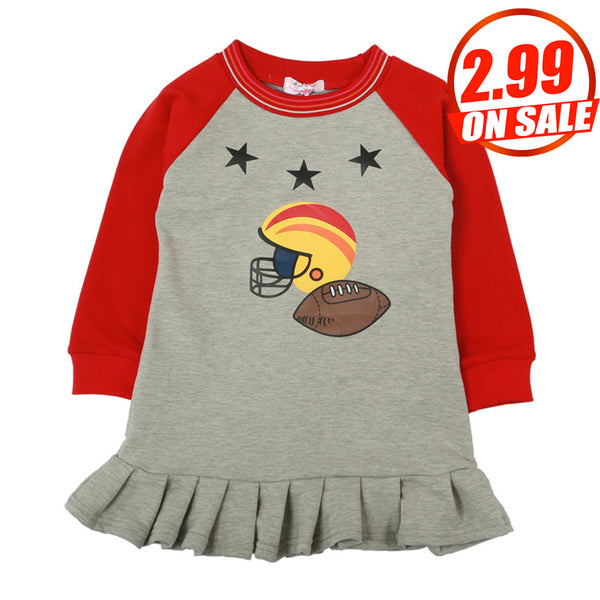 10PCS No Profit On Sale Clearance & Closeout Specials Girls Long Sleeve Cartoon Dress bulk childrens clothing suppliers
