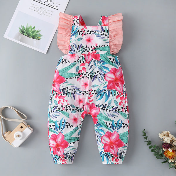 124PCS Clearance & Closeout Specials Baby Girls Floral Romper Baby Clothing Suppliers