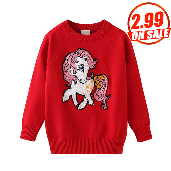 14PCS No Profit On Sale Clearance & Closeout Specials Girls Unicorn Long Sleeve Sweaters kids vendors
