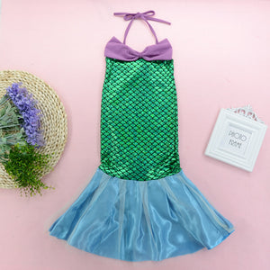 Fashionable Girls Mermaid Suspender Dress Fishtail Skirt Evening Dress