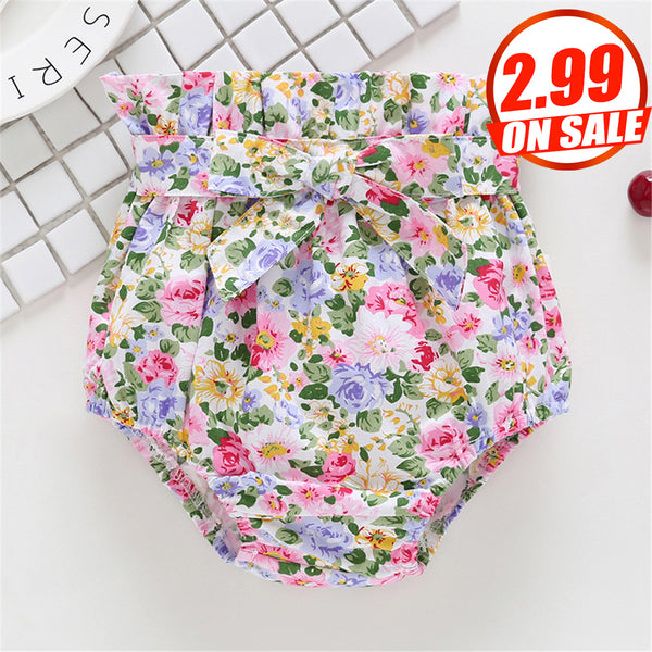 61PCS No Profit On Sale Baby Girls Floral Bow Printed Shorts cheap baby girl clothes boutique