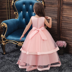 Long girl's dress princess dress wedding dress girls performance dress