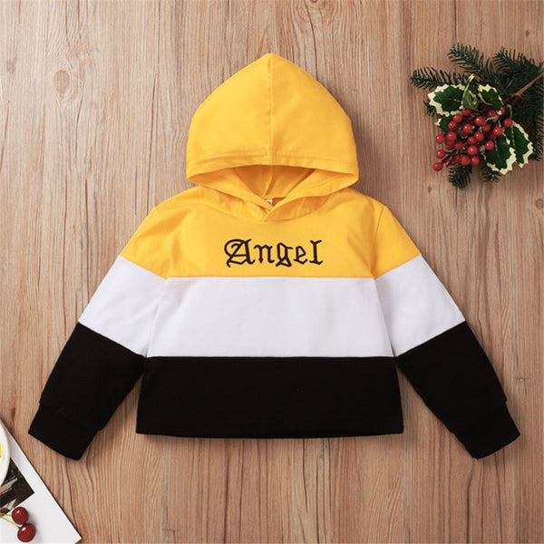 Unisex Striped Color Contrast Long Sleeve Letter Printed T-Shirt Kids Wholesale Clothing Warehouse