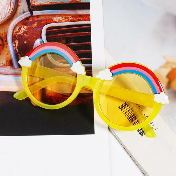 2PCS Children's Cute And Funny Rainbow Glasses Decoration  Accessories Wholesale