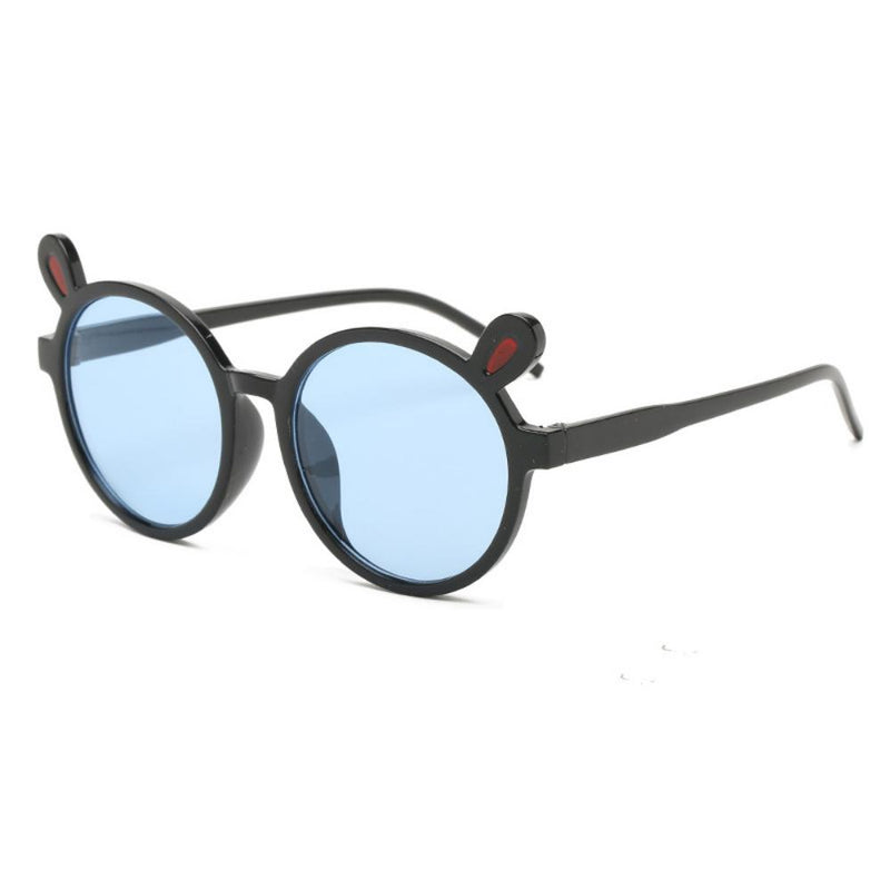 2PCS Cute Transparent Cartoon kid Sunglasses Round Frame Bunny Glasses Accessories Wholesale