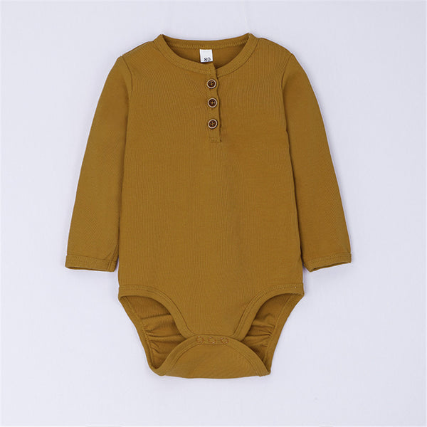 Baby Boys Long Sleeve Solid Color Romper Wholesale Clothing Baby