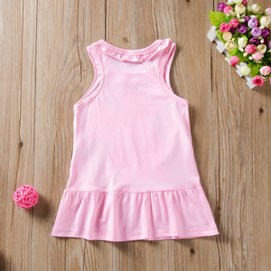 Cartoon Mickey Mouse Princess Dress Tank Dress For Girls