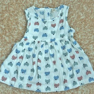 Toddler Girls Mouse Cartoon Pattern Print Dress