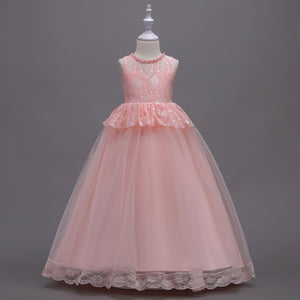 Girl Prom Dress Beaded Princess Dress Lace Tutu Dress