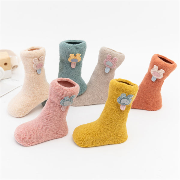 Baby Girls 3-Pairs Cartoon Cute Socks Sets Baby Accessories Wholesale