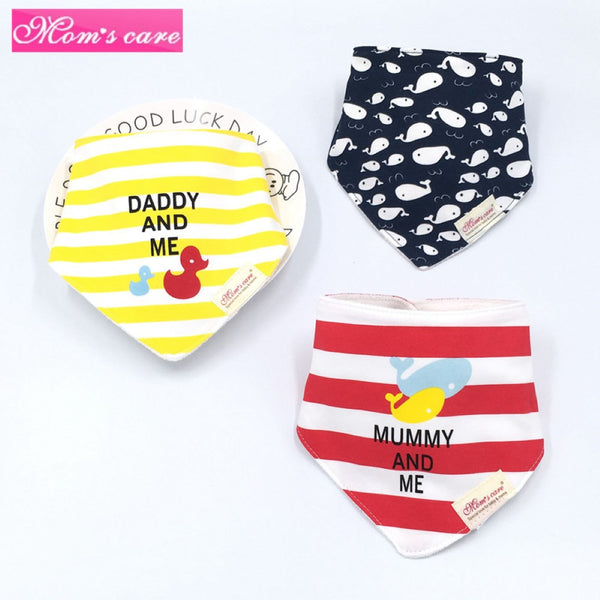 3PCS Baby Cotton double-layer thick waterproof Bibs Baby Accessories Wholesale