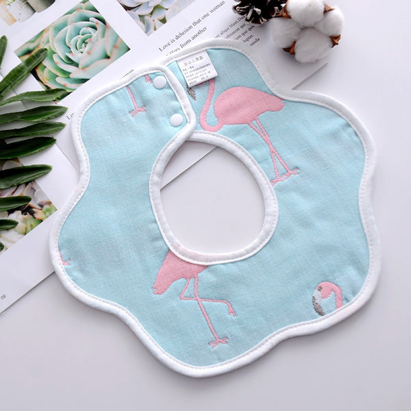 3PCS Baby Pure Cotton 360 Degree Rotating Petals Bibs Baby Accessories Wholesale