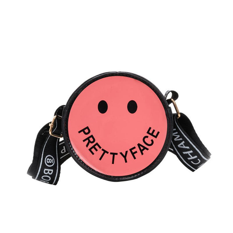 3PCS Cartoon Printed Cute Smiling Face Crossbody Small Round Bag Children's Bags Wholesale
