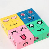 3PCS Early Childhood Education Toys Emoticon Blocks Wholesale Kids Accessories