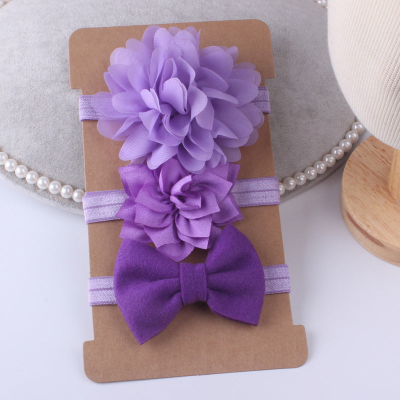 3PCS Lovely Baby Hair Band Three-piece Suit Elastic Headband Wholesale Kids Accessories
