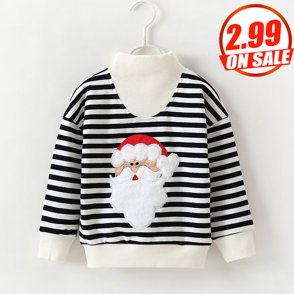 41PCS No Profit On Sale Clearance & Closeout Specials Parent-Child Santa Claus Striped Long Sleeve Top mommy and me boutique